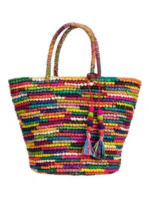 Соломенная сумка Sensi Studio. Цвет: разноцветный