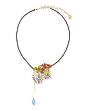 Ожерелье LA HORMIGA. Цвет: темно-коричневый