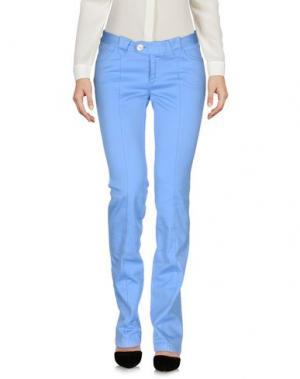 Повседневные брюки BARBA Napoli. Цвет: небесно-голубой
