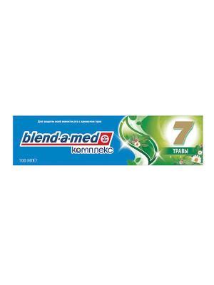 Зубная паста Blend-a-med Комплекс 7 Травы с ополаскивателем, 100 мл BLEND_A_MED. Цвет: синий