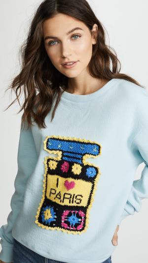 I Love Paris Multi Perfume Bottle Sweatshirt Michaela Buerger