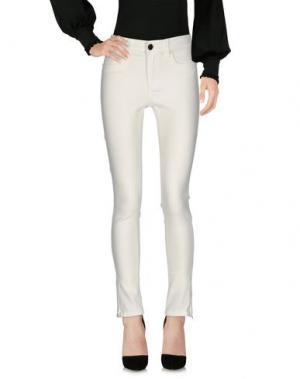 Повседневные брюки FOREVER UNIQUE. Цвет: белый