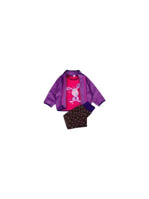 Комплект одежды Yallo Kids. Цвет: черный, сиреневый, розовый