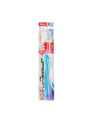 Зубная щетка с средней жесткости Isodent Medium. Цвет: белый