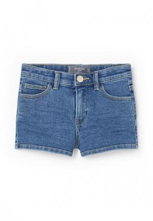 Шорты джинсовые Mango Kids. Цвет: синий