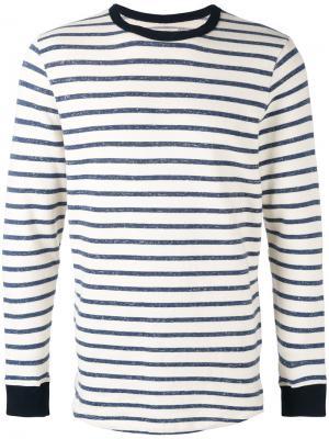 Полосатый свитер Bellerose. Цвет: телесный