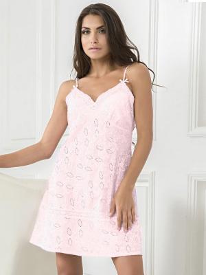 Сорочка MIA-MELLA. Цвет: бледно-розовый, розовый