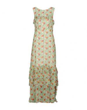 Длинное платье BLUGIRL FOLIES. Цвет: светло-зеленый