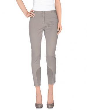 Повседневные брюки LA FILERIA. Цвет: светло-серый