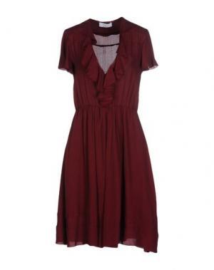 Платье до колена AXARA PARIS. Цвет: красно-коричневый