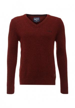 Пуловер Frank NY. Цвет: бордовый