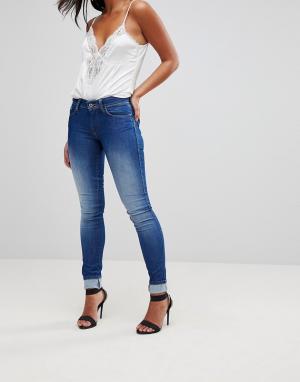 Salsa Зауженные джинсы пуш-ап с завышенной талией Wonder. Цвет: синий