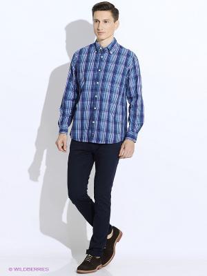Рубашка Westrenger. Цвет: синий, фиолетовый