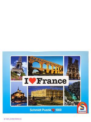 Паззл Я люблю Францию Schmidt. Цвет: голубой