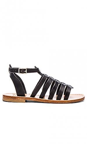 Gladiator ankle band & strap sandal Capri Positano. Цвет: black