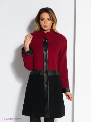 Пальто TOPSANDTOPS. Цвет: бордовый, черный