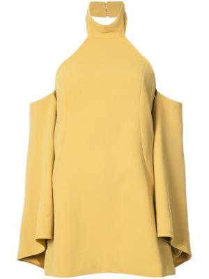 Расклешенное платье с вырезными деталями C/Meo. Цвет: жёлтый и оранжевый