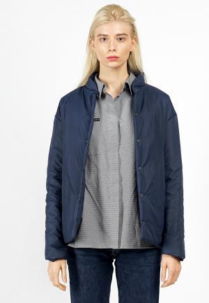 Куртка утепленная BURLO. Цвет: синий