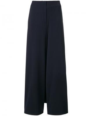 Широкие брюки Stefano Mortari. Цвет: синий