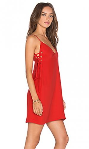 Платье robin Amanda Uprichard. Цвет: красный