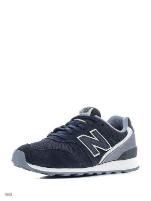 Кроссовки NEW BALANCE 996 TEXTILE. Цвет: темно-синий