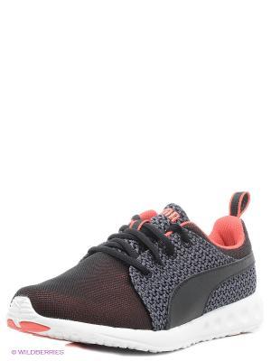 Кроссовки Carson Runner Knit Wn s Puma. Цвет: коралловый, черный, серый