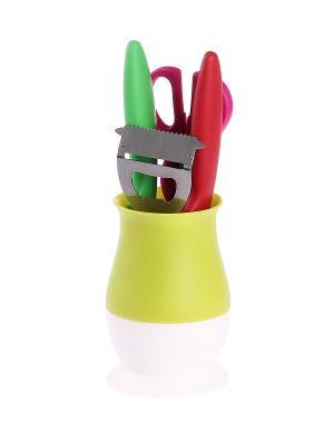 Набор кухонный 5 предметов PATRICIA. Цвет: светло-зеленый