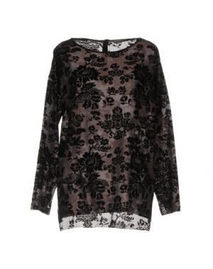 Блузка 19.70 NINETEEN SEVENTY. Цвет: светло-коричневый