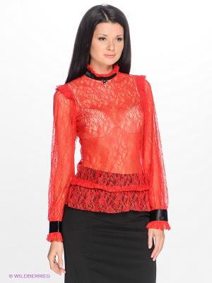 Блузка MARY MEA. Цвет: красный