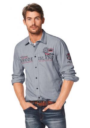 Рубашка Rhode Island. Цвет: голубой/в полоску