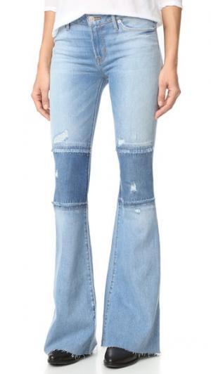 Джинсы Custom Mia с пятью карманами Hudson. Цвет: royal delta