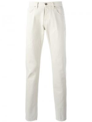 Классические прямые брюки Eleventy. Цвет: телесный