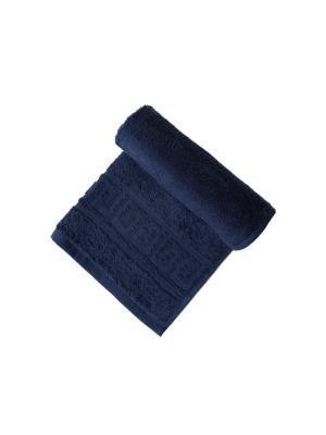 Набор: полотенце махровое  3 штуки ARLONI. Цвет: темно-синий
