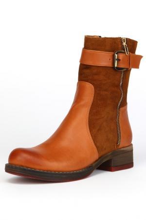 Ботинки утепленные, байка OSSO. Цвет: оранжевый