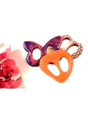 Пряжка Волшебная пуговица для шейного платка madam Пряжкина. Цвет: фиолетовый, бледно-розовый, оранжевый