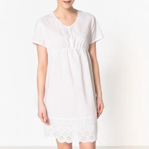 Рубашка ночная для периода беременности La Redoute Collections. Цвет: белый