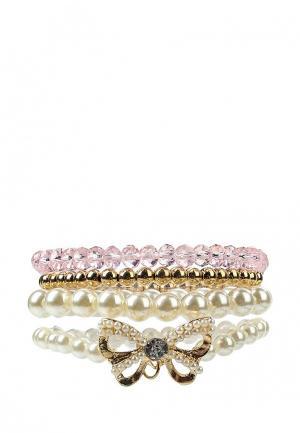 Комплект браслетов Acoola. Цвет: белый, золотой, розовый