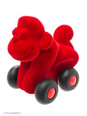 Обезьяна Rubbabu. Цвет: красный