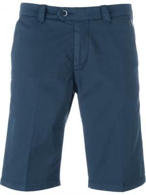Классические шорты-бермуды Corneliani. Цвет: синий