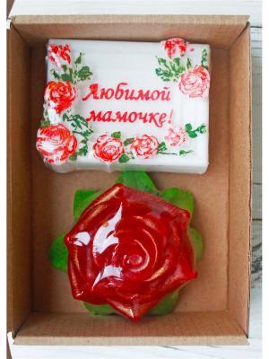 Набор Любимой мамочке и роза Entourage. Цвет: розовый