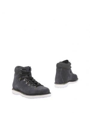 Полусапоги и высокие ботинки DIEMME. Цвет: стальной серый