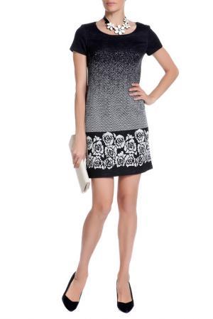 Платье XS MILANO. Цвет: черно-серый