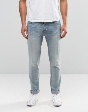 Hollister Светлые зауженные джинсы. Цвет: синий
