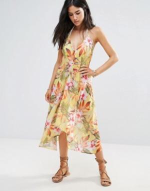 Matthew Williamson Пляжное платье с цветочным принтом Butterfly By. Цвет: мульти