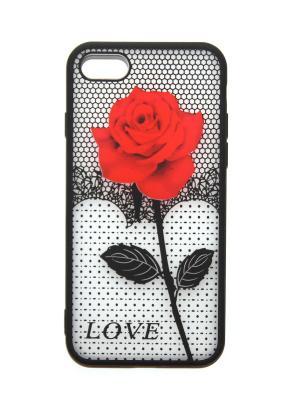 Чехол для iPhone 7 Lola. Цвет: красный, черный