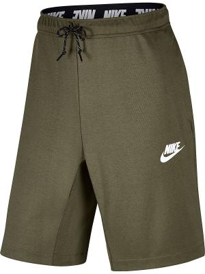 Шорты M NSW AV15 FLC SHORT Nike. Цвет: оливковый