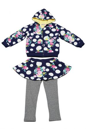 Комплект Kidly. Цвет: синий, белый, розовый