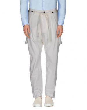 Повседневные брюки TOM REBL. Цвет: белый