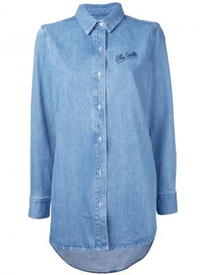 Embroidered denim shirt Être Cécile. Цвет: синий