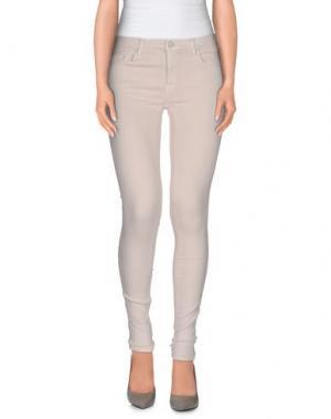 Джинсовые брюки (+) PEOPLE. Цвет: светло-розовый